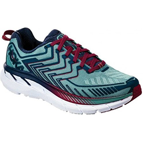 HOKA ONE ONE Women's Clifton 4 Running Shoe Aquifer/Vintage Indigo Size 7 M US