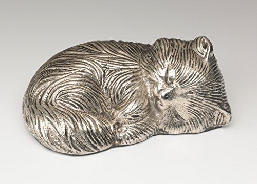 - Bogati Sleeping Kitty Urn - Nickel - Exclusive Item