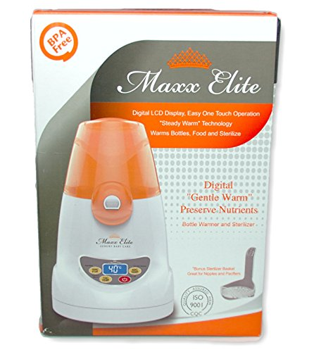 Maxx Elite ''Digital Gentle Warm'' Bottle Warmer & Sterilizer w/''Steady Warm'' and LCD Display (Orange) by Maxx Elite (Image #9)