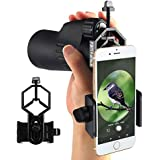 Fantronics Cellphone Adapter Mount Telescope Microscope Camera Holder, Compatible with Binocular Monocular Spotting Scope, For iPhone Sony Samsung Moto Etc -Record the Nature of the World