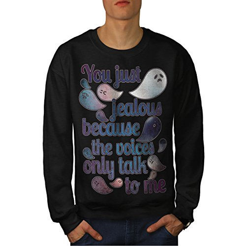 Scary Midget Clowns (Jealous Ghost Scary Funny Men M Sweatshirt | Wellcoda)