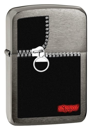 - Zippo 1941 Black Chrome Zipper Lighter