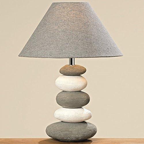 Lampada Da Comodino 40 Cm Pietra Grigio Bianco Lampada Da Comodino Lampada Da Tavolo Lampada Da Tavolo Lampada Amazon It Illuminazione