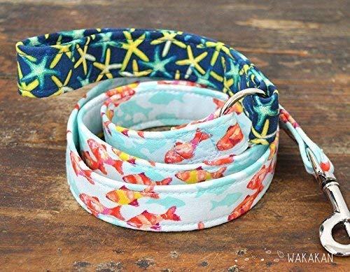 Correa Para Perro: Starfish, Hecha a Mano en España por Wakakán: Amazon.es: Handmade