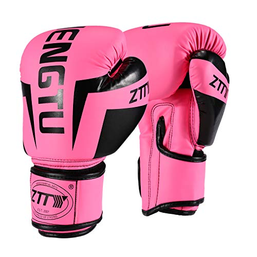 ZTTY Sports Boxing Gloves PU Leather Kickboxing Muay Thai Punching Bag Mitts MMA Pro Grade Sparring Training Fight Gloves for Men & -