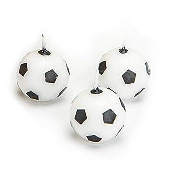 Velas de fútbol, 6 unidades, para decoración de fiestas de ...