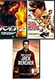 Ethan Hunt Tom Cruise 3 Pack Mission Impossible M:i-2 / Rogue Nation & Jack Reacher Thrilling Action Blast Triple Feature