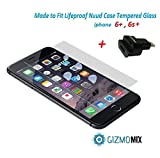 [BUNDLE] Lifeproof Nuud Tempered Glass Screen Protector For iPhone 6+ 6S+ PLUS Case nüüd + 8 pin Lightning Dock extender (never remove case again) - Gizmomix Inc