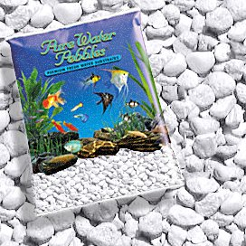 Gravel White Aquarium (Pure Water Pebbles PLATINUM WHITE FROST AQUARIUM GRAVEL, 5-LB, Colored Fish Tank Gravel)