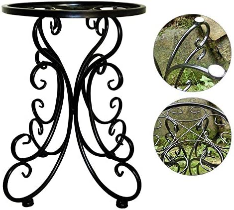 Handmade Indoor Balcony Single Wrought Iron Flower Ideas Round Stool Flower Rack For Dropship Durable