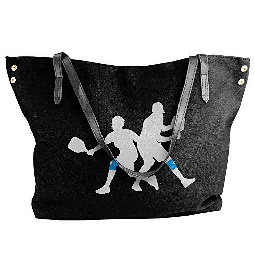 Canvas Black Women's Pickleball Handbags Tote Player Shoulder Large Handbag FxaHwPdq