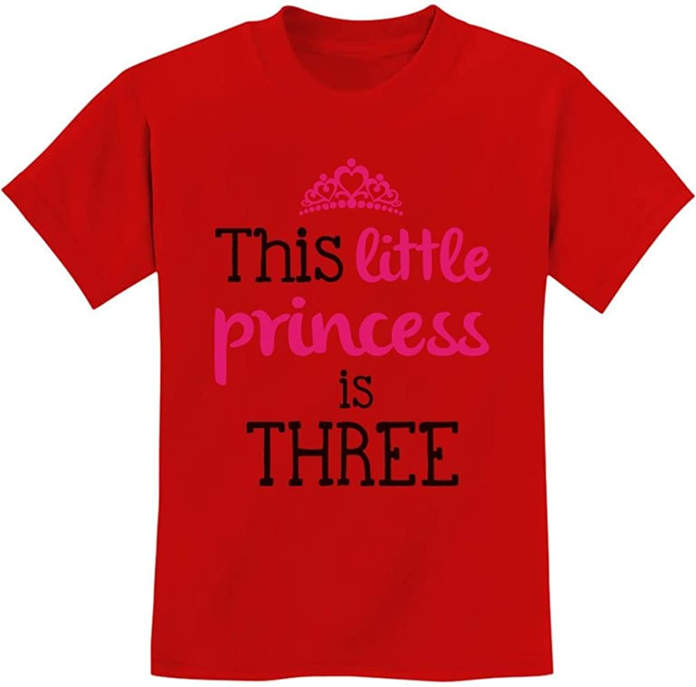 This Little Princess is Three 3 Years Old Girl Birthday Youth Kids T-Shirt