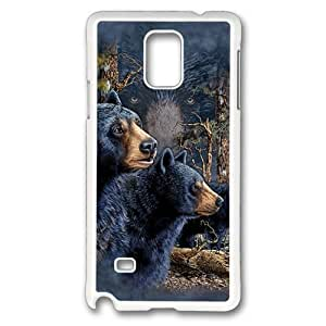 Find 13 Black Bears Polycarbonate Hard Case Cover for Samsung Galaxy Note 4/N9100 White
