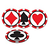 Kitchen & Housewares : Casino Coasters (asstd designs)    (8/Pkg)