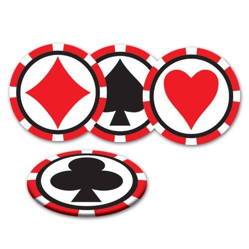 Casino Coasters (asstd designs)    (8/Pkg) ()