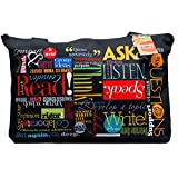 "Teacher Peach ""Words to Grow By"" Zippered School Bag Teacher Tote Teacher Gift"