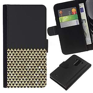 KingStore / Leather Etui en cuir / LG G3 / Bling Polígono patrón brillante