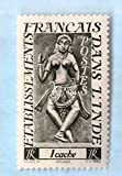 Mint French India Postage Stamp %281948%