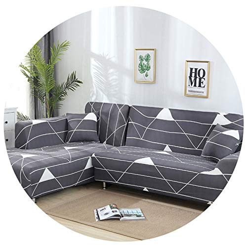 Pocket shop-Slipcovers Spandex Sofa Cover Stretch Geometric Sofa Armchairs Sectional Sofa Towel Couch Cover for Living Room 1Pc,Color 8,4-Seater 235-300Cm