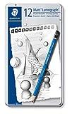 Staedtler Lumograph Graphite Drawing & Sketching Pencils, Soft Set of 12 Degrees (100G12S)