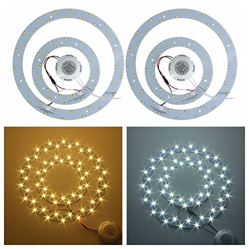 30W 5730 SMD LED Double Panel Circles Annular Ceiling Light Fixtures Board Lamp ( Warm White ) - 30w Compact Shelf