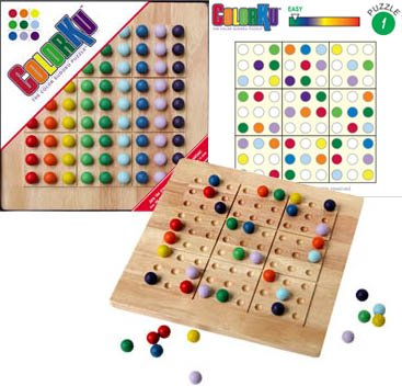 Wooden Sudoku - Mad Cave Bird Games ColorKu