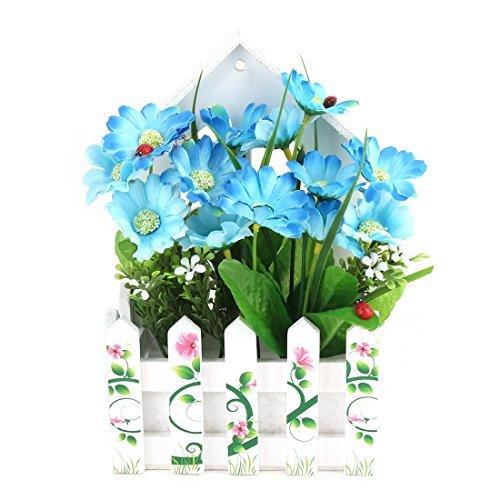 eDealMax Accueil Jardin Champêtre Style Maison Design Clôture Fleur artificielle Bouquet mur Hanger Décor