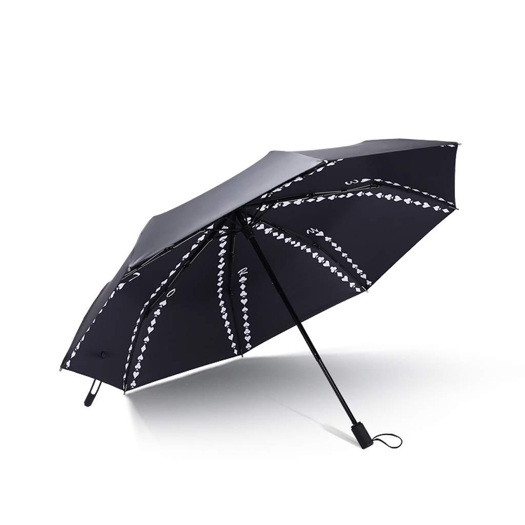 Parapluie Pliant Noir Anti-UV THANSANDAU