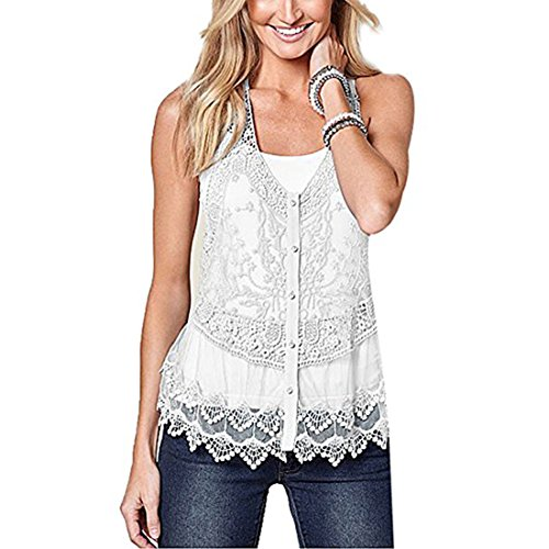 Women Summer Crochet Beachwear White - 4