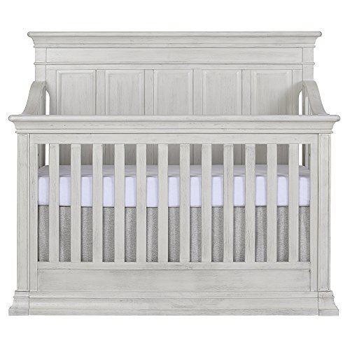 Evolur Napoli 5-in 1 Convertible Crib, Antique Grey ()