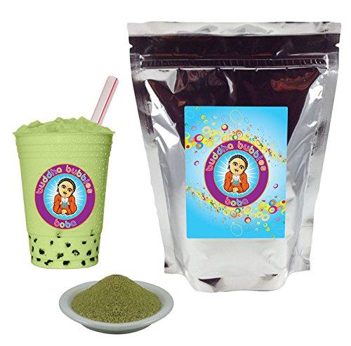 Matcha Green Tea Latte Boba / Bubble Tea Powder By Buddha Bubbles Boba 1 Pound (16 Ounces) | (453 Grams)