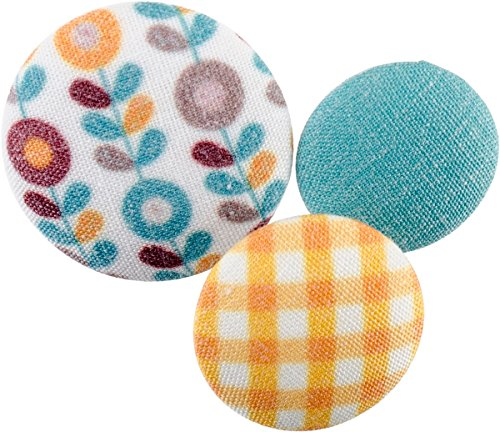 Floral Fabric Button (Blumenthal Lansing Company Fabricraft-Fabric Covered Buttons, Floral and Checkered, 8 Piece)