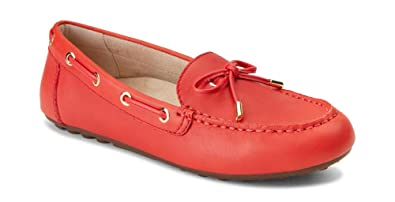 d7bcf58dca2 Vionic Women s Honor Virginia Loafer - Ladies Moccasin with Concealed  Orthotic Arch Support Cherry Leather 5