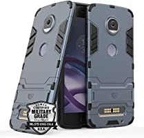 Capa para Moto Z2 Play, SKUDO Defender [Dual Layer][Anti Impacto ][Military Grade], Motorola Moto Z2 Play ( XT1710 ) (Metal Slate)