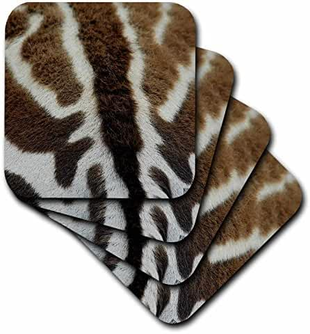 3dRose Detail of the skin of a Common zebra - Soft Coasters, set of 4 (cst_9861_1)