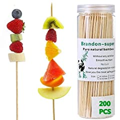 Super tough bamboo,Guarantee that each bamboo skewer is carefully selected, clean, no split and no debris Multiple sizes for your choice, for all kinds of food. Bamboo sharp, children before use to ensure the guidance of adult.        ...
