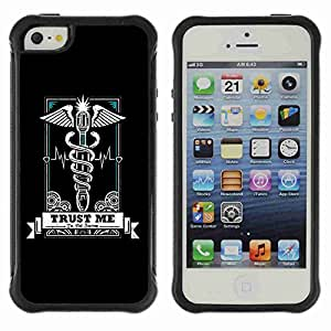 A-type Arte & diseño Anti-Slip Shockproof TPU Fundas Cover Cubre Case para Apple iPhone 5 / 5S ( Cool The Doctor )