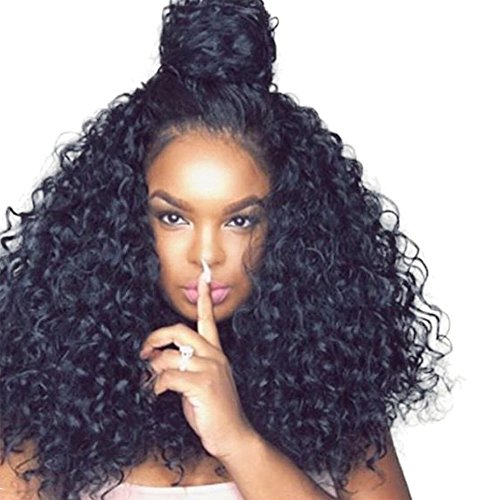 Cici Collection 250% High Density Lace Front Human Hair Wigs With Baby Hair 7A Curly Brazilian Lace Front Wigs Human Hair Pre Plucked Lace Front Wigs For Black Women (16inch, Deep Curly) (Hair Wig Human Curly)