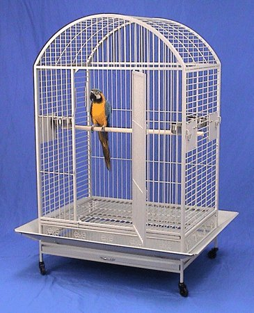 "Kilauea Kastle Dometop Bird Cage - 40"" X 30"" X 66"" - Black Vein by BirdCages4Less"