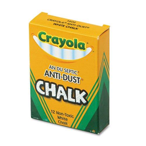 Crayola®–Non Toxique Craie anti-poussière, blanc, 12bâtons d'encens/Boîte–Vendu comme 1Boîte–low-dust Craie pour utilisation sur la plupart des tableaux noirs.