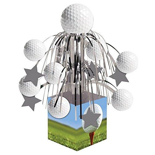 (Creative Converting Sports Fanatic, Golf Centerpiece with Mini Cascade and Base, White)