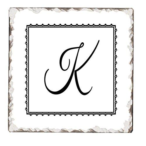Counter Tumbled Tile Coasters Monogram