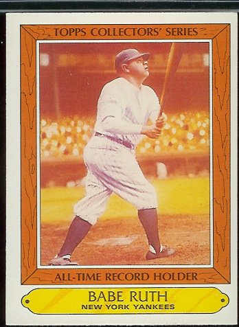 10 Different Babe Ruth Baseball Cards Mint Condition