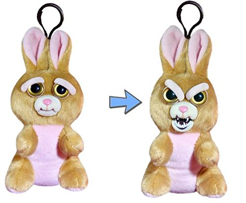 William Mark Mini Feisty Pets Vicky Vicious Adorable Plush Stuffed Easter Bunny that Turns Feisty with a Squeeze