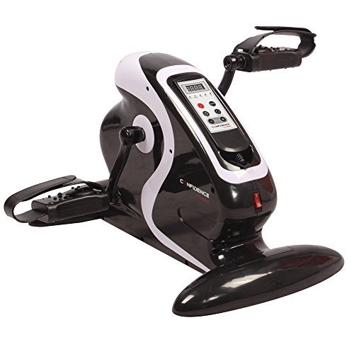 Confidence Fitness Motorized Electric Mini Exercise Bike / Pedal Exerciser Black (Renewed) (Confidence Fitness Motorized Electric Mini Exercise Bike)