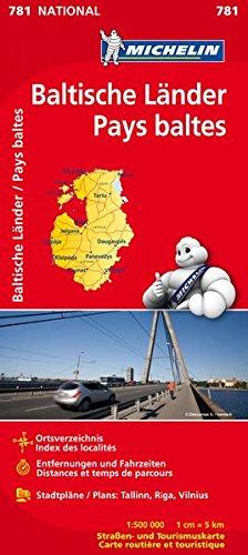 Michelin Baltische Länder (Estland, Lettland und Litauen): Straßen- und Tourismuskarte 1:500.000 (MICHELIN Nationalkarten, Band 781)