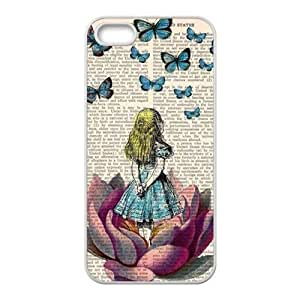 Butterflies lovely girl Cell Phone Case for iPhone 5S
