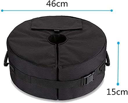 Detachable Outdoor Beach Umbrella Sand Bag Weight Base Durable Tough 900D PU Oxford Cloth Sand Bag Large Opening Easy Installation Heavy Duty Parasol Sand Bag Ejoyous Parasol Sand Bag Base Weight