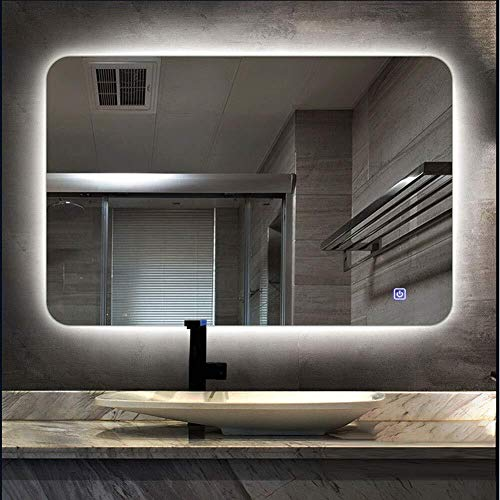 500 x 700 mm Led Bathroom Mirror with Touch Button Backlight Illuminate -