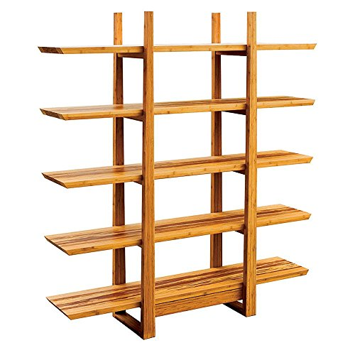 Magnolia Five Shelf Solid Bamboo Bookcase - 72